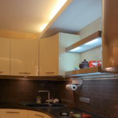 Кухня с круглым фасадом