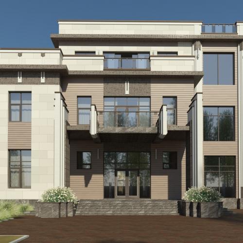 Проект дома на Рублевке. 2016 год
