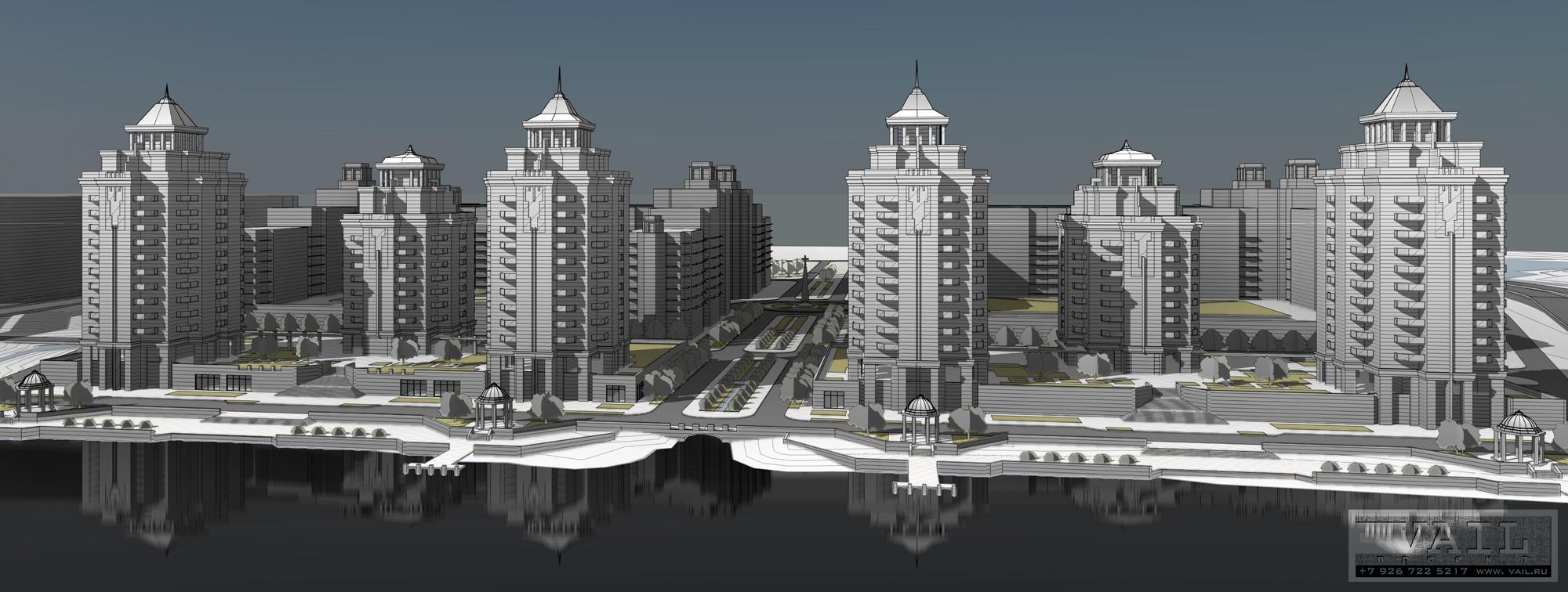 Генплан жилого комплекса в Калининграде. 2013 г.