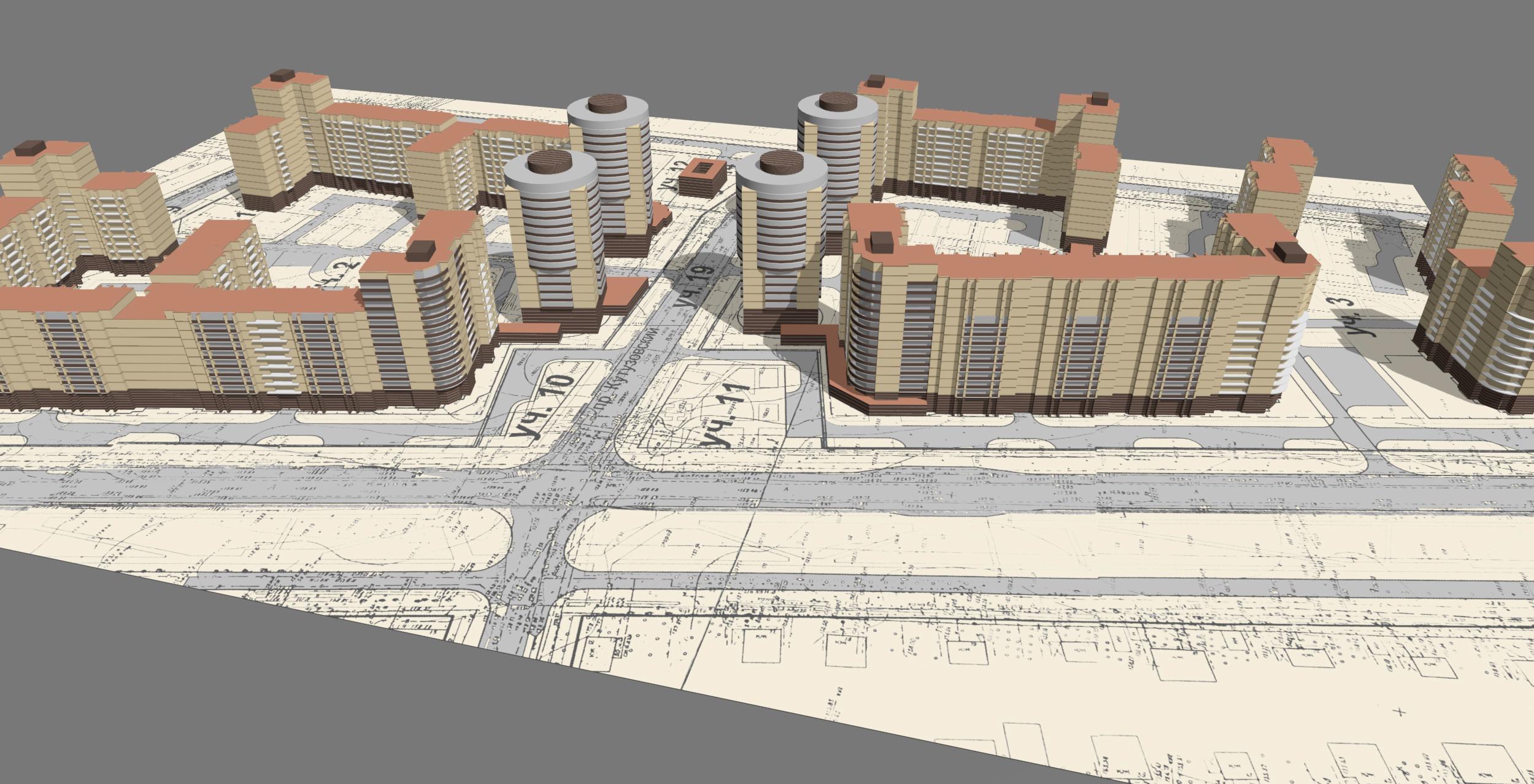 Проект многоквартирного ЖК в Домодедово