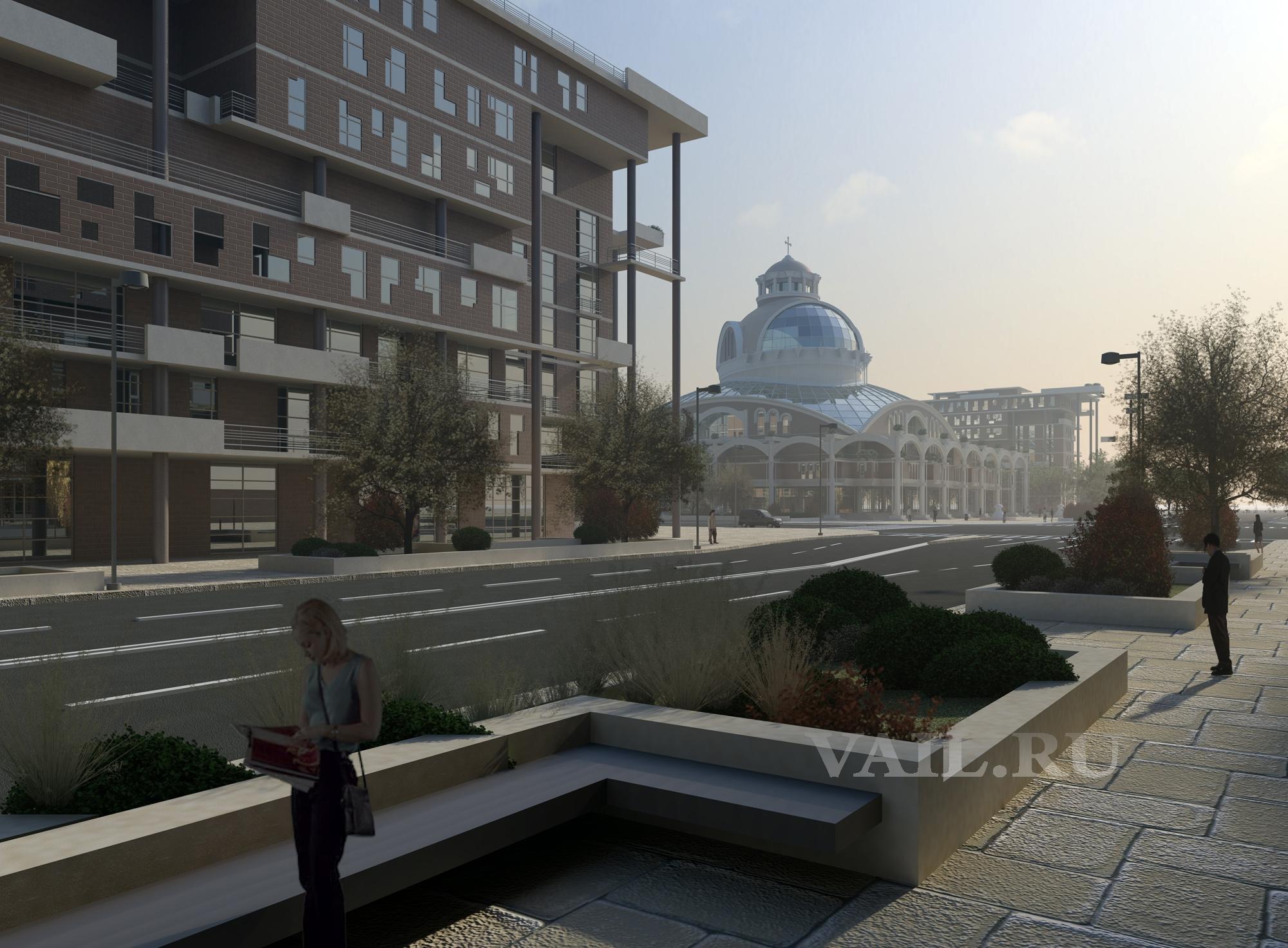 Архитектурный проект собора в Новоситино. 2011 год.