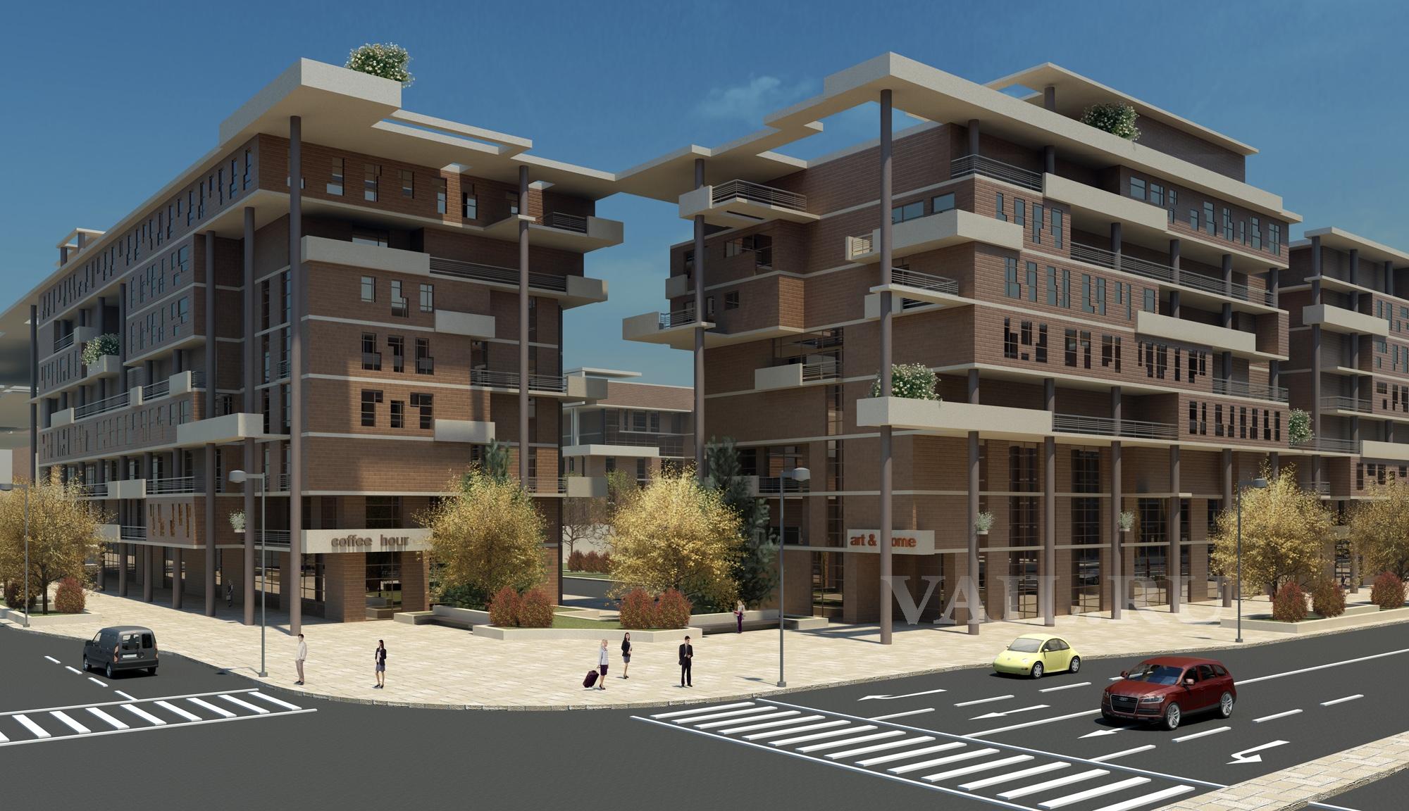 Архитектурное решение перекрестка в Новоситино