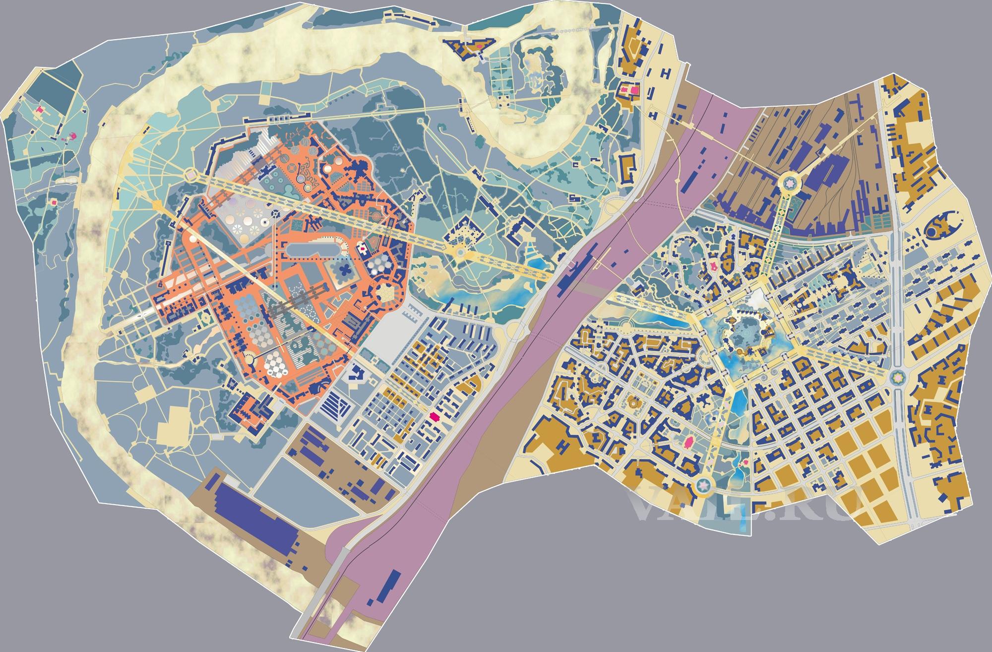 Реконструкция района Капотни 1998 г.
