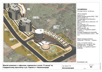 Планировка гостиничного комплекса с апартаментами