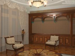 Уголок гостиной в классическом стиле