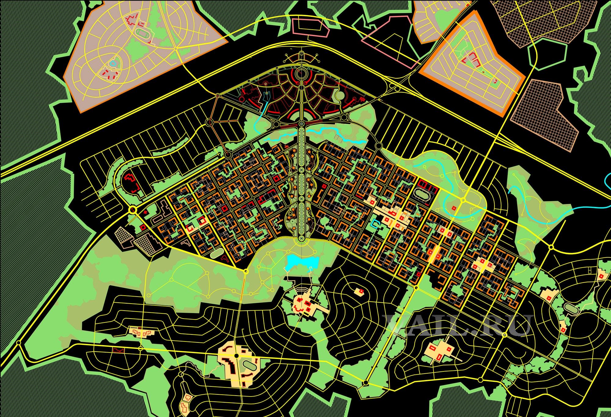 Новый город. Генплан 2010г