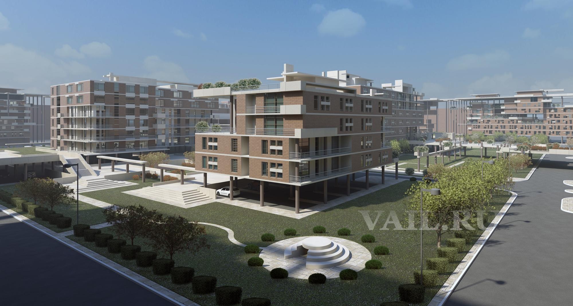 Проект жилого микрорайона в Новоситино. 2011 г.