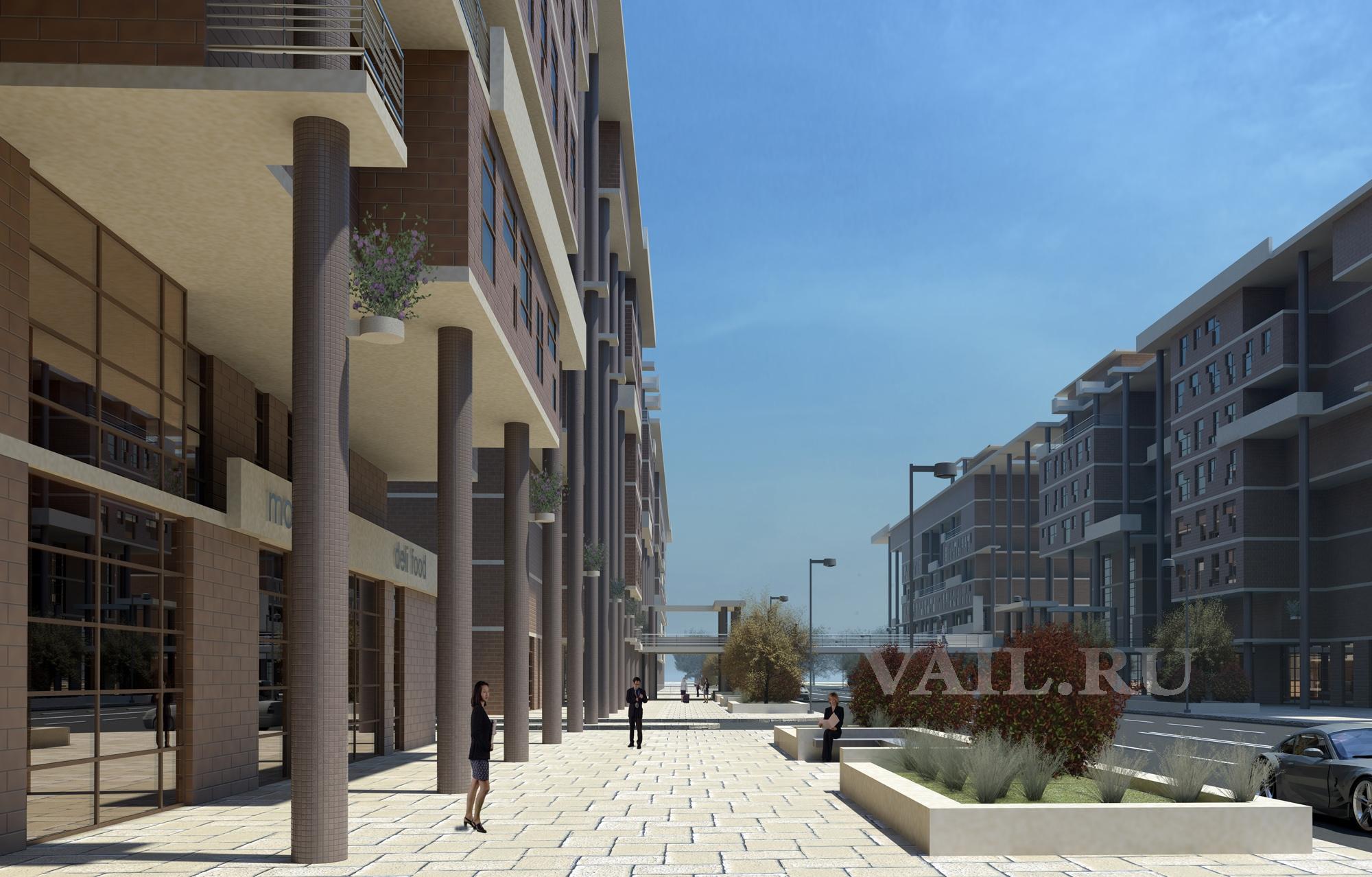 Проект улицы в ЖК Новоситино