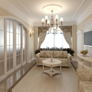 Дизайн интерьера квартиры в пос. Заречье