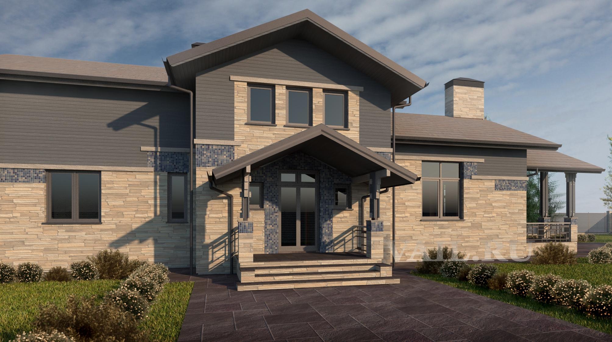 Вид на вход в дом