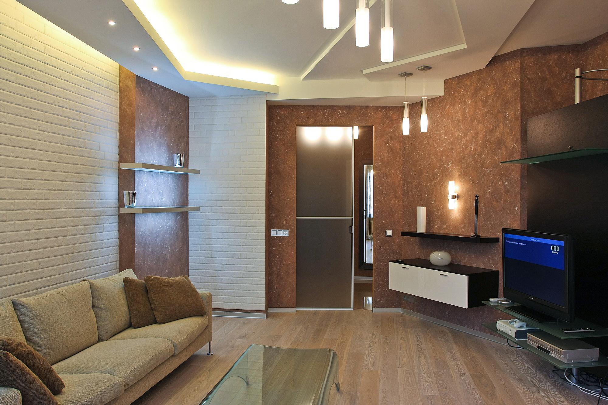 Ассиметричная гостиная