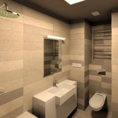 Ванная в небольшой квартире