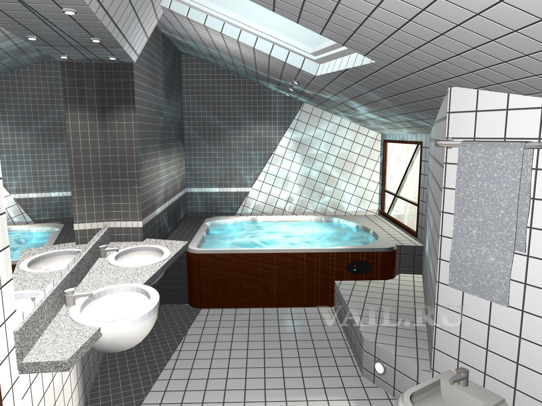 Туалет под крышей