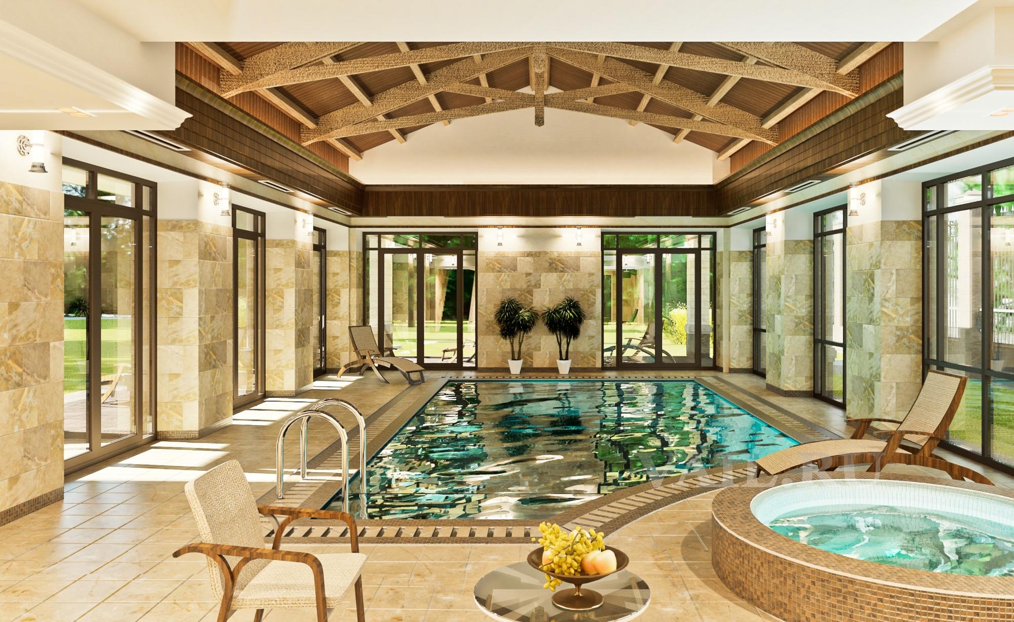 Частный бассейн в загородном доме