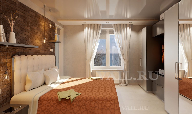 Хозяйская спальня с окном