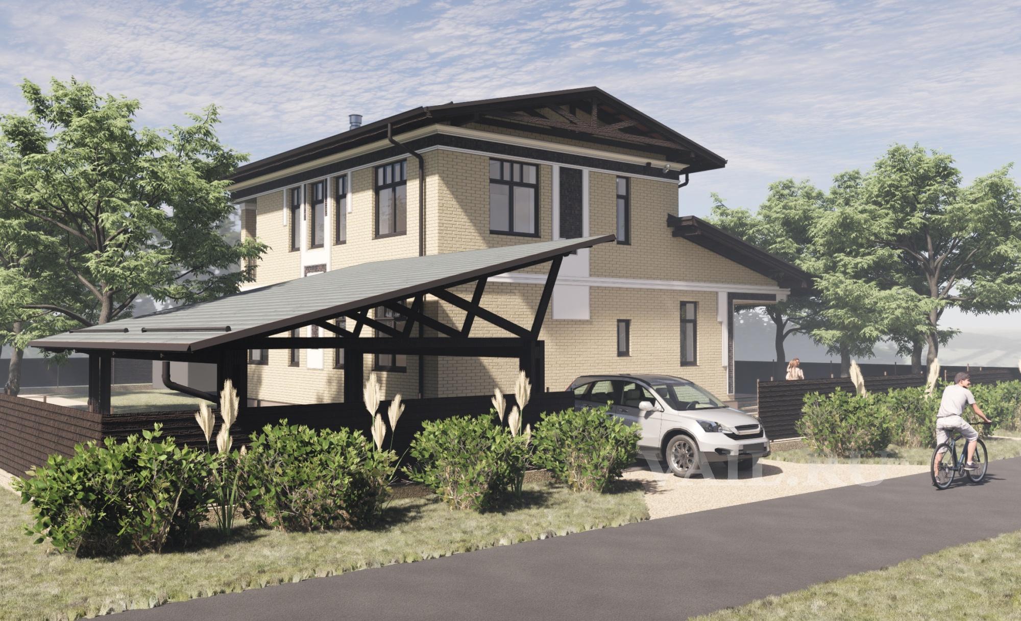 Дом в Сатино. Вид от гаража.